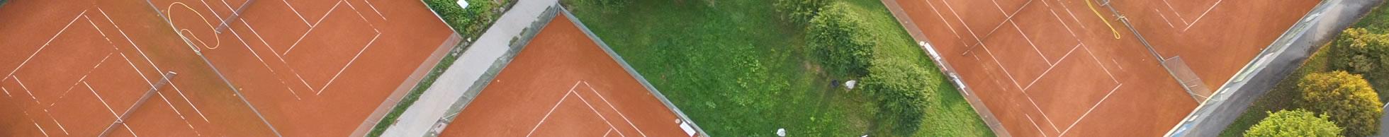 Tennisplatz Luftbild