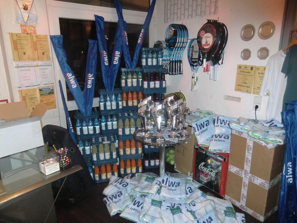 Alle Getränke beim alwa Cup werden vom Hauptsponsor gestellt